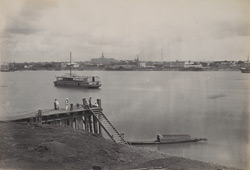 View of Rangoon, from the Dalla side of the river